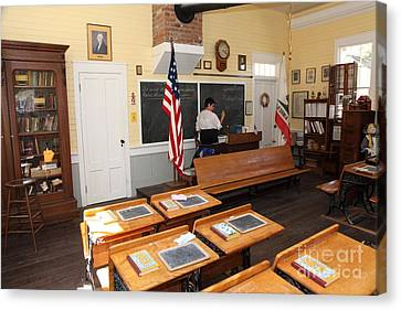 Old School Houses Canvas Print - Old Sacramento California Schoolhouse Classroom 5d25780 by Wingsdomain Art and Photography