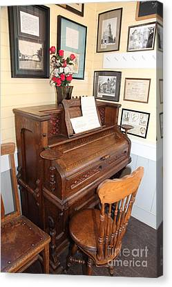 Old School Houses Canvas Print - Old Sacramento California Schoolhouse Piano 5d25783 by Wingsdomain Art and Photography