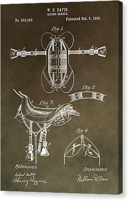 Old Saddle Patent Canvas Print by Dan Sproul