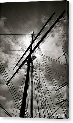 Canvas Print featuring the photograph Old Sailing Ship by Alex King