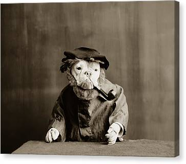 Dog Canvas Print - Old Sailor Circa 1905 by Aged Pixel