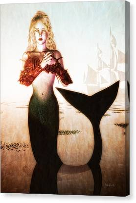 Old Sailors Dream - The Mermaid Canvas Print by Bob Orsillo