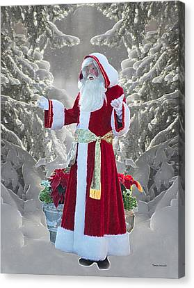 Old Saint Nick Canvas Print by Thomas Woolworth