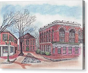 Old Salem City Hall Canvas Print