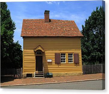 Charming Cottage Canvas Print - Winston-salem Nc - Old Salem Store by Frank Romeo