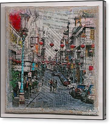 Old San Francisco China Town Canvas Print by Ruby Cross