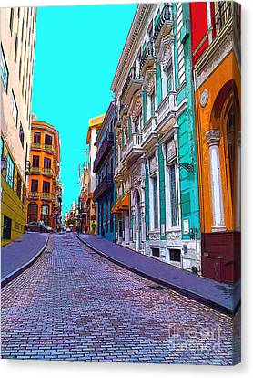 Old San Juan Canvas Print by Carey Chen