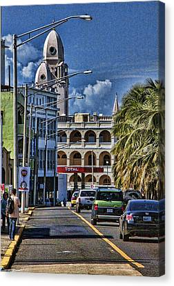Canvas Print featuring the photograph Old San Juan Cityscape by Daniel Sheldon