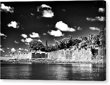Old San Juan In Black And White Canvas Print