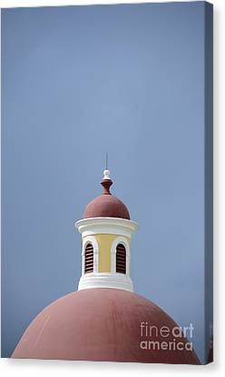 Artists Of Puerto Rico Canvas Print - Old San Juan Roof Top by Birgit Tyrrell