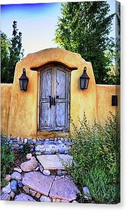 Old Santa Fe Gate Canvas Print