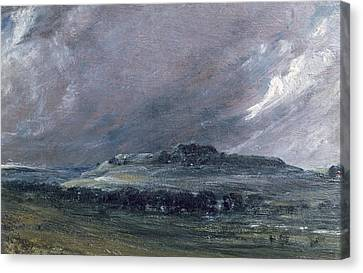 Archaeology Canvas Print - Old Sarum by John Constable