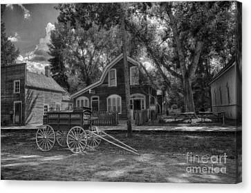 Old Scene-baker Wagon Canvas Print by Darcy Michaelchuk