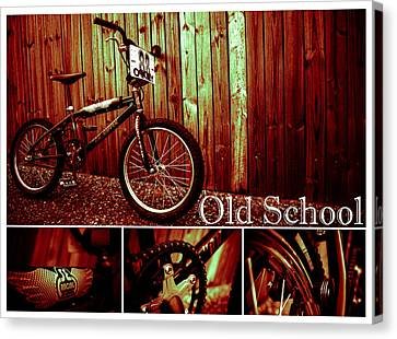 Old School Bmx - Pk Collage Colour Canvas Print by Jamian Stayt
