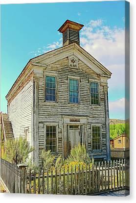 Old School House Bannack Ghost Town Montana Canvas Print
