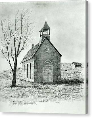 Old School Houses Canvas Print - Old School House by Steve Cost