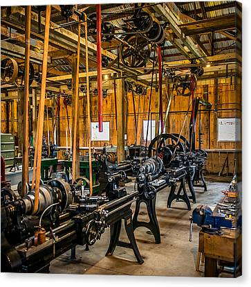 Old School Machine Shop Canvas Print