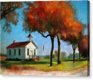 Old Schoolhouse Canvas Print by Bob Galka
