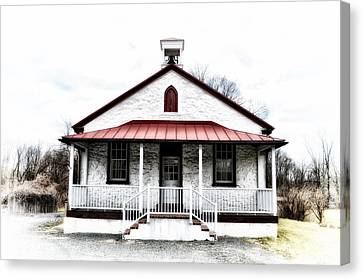 Old Schoolhouse Chester Springs Canvas Print by Bill Cannon