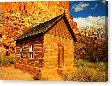 Old Schoolhouse Near Capital Reef Utah Canvas Print