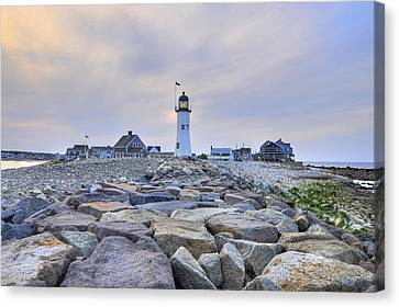 Old Scituate Light Canvas Print by Dan Myers