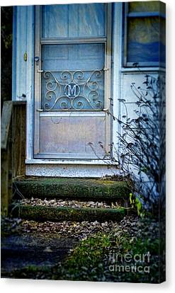 Old Screen Door Canvas Print by Jill Battaglia