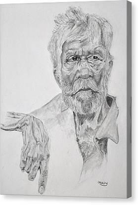 Old Seaman Canvas Print by Glenn Calloway
