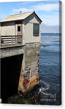 Old Shack Overlooking The Monterey Bay In Monterey Cannery Row California 5d25062 Canvas Print by Wingsdomain Art and Photography