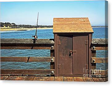 Old Shed On Ventura Pier Canvas Print by Susan Wiedmann
