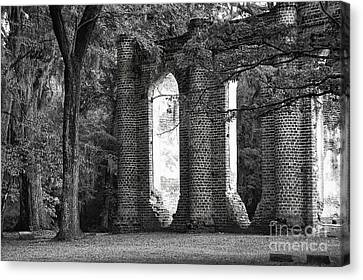 Old Sheldon Church Side View Canvas Print