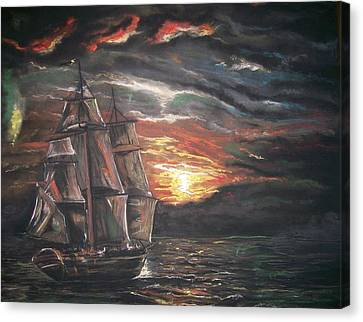 Canvas Print featuring the pastel Old Ship Of The Sea by Peter Suhocke
