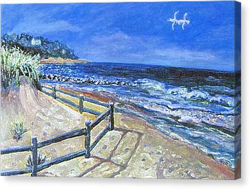 Old Silver Beach Canvas Print