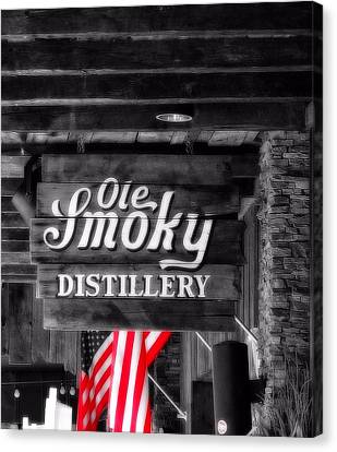 Old Smoky Distillery An American Pastime Canvas Print by Dan Sproul