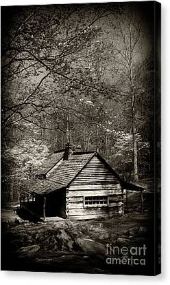 Log Cabin Canvas Print - Old Smoky Mtn Cabin by Paul W Faust -  Impressions of Light