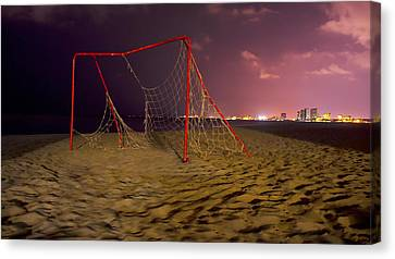 Old Soccer Net Canvas Print by Aged Pixel