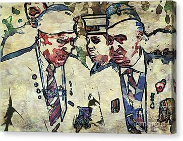 Old Soldiers Canvas Print by Paul Stevens