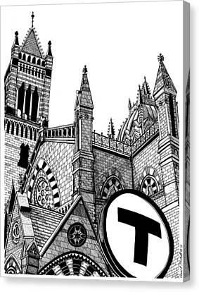 Old South Church Boston Canvas Print by Conor Plunkett