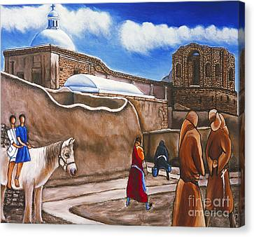 Old Spanish Church Canvas Print by William Cain