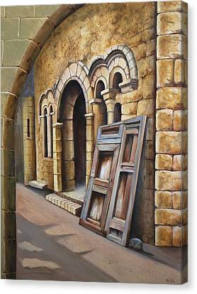 Old Spanish Monastery Canvas Print by Rich Kuhn