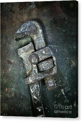 Ironwork Canvas Print - Old Spanner by Carlos Caetano