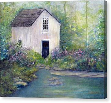Old Springhouse Canvas Print