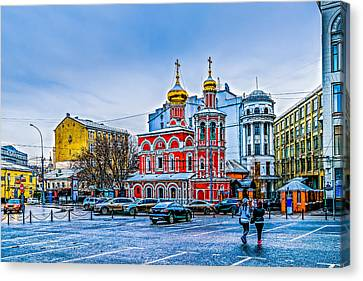 Old Square Of Moscow Canvas Print by Alexander Senin