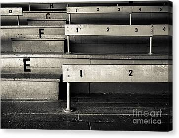 Old Stadium Bleachers Canvas Print by Diane Diederich