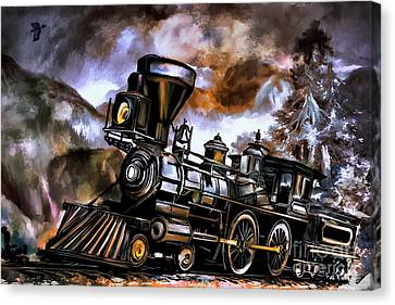 Old Steam Engine  Canvas Print by Andrzej Szczerski