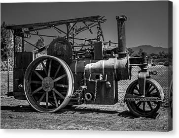 Old Steam Roller Canvas Print by Garry Gay
