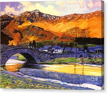 Old Stone Bridge Canvas Print by David Lloyd Glover