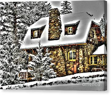 Old Stone Building Canvas Print by Steven Parker