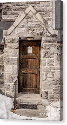 Old Stone Church Door Canvas Print by Edward Fielding