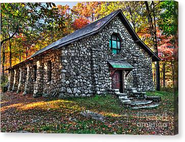 Old Stone Lodge Canvas Print by Anthony Sacco