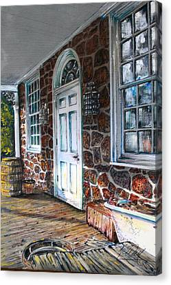Store Fronts Canvas Print - Old Stone Store Front by Martin Way